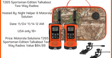Motorola Solutions T265 Sportsman Edition Talkabout Two-Way Radios Giveaway