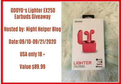 Giveaway ODOYO's Lighter EX250 Earphones